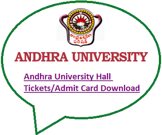 Andhra University Degree Hall Tickets 2020
