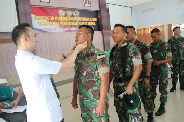 Prajurit Yonif R 514 Kostrad Terima Penyuluhan Kesehatan