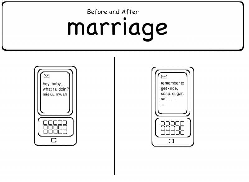 16 Funny Pictures Of The Startling Differences Between Single And Married Life - Texts
