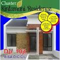 Perumahan Cluster Bekasi Rumah Kintamani Residence Dinding Bata Merah DP 10 Juta