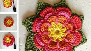 Cómo tejer al crochet una flor en capas - paso a paso
