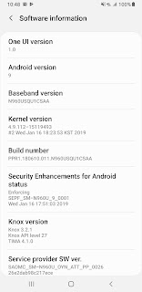 Galaxy Note 9 for AT&T receives Android 9 Pie
