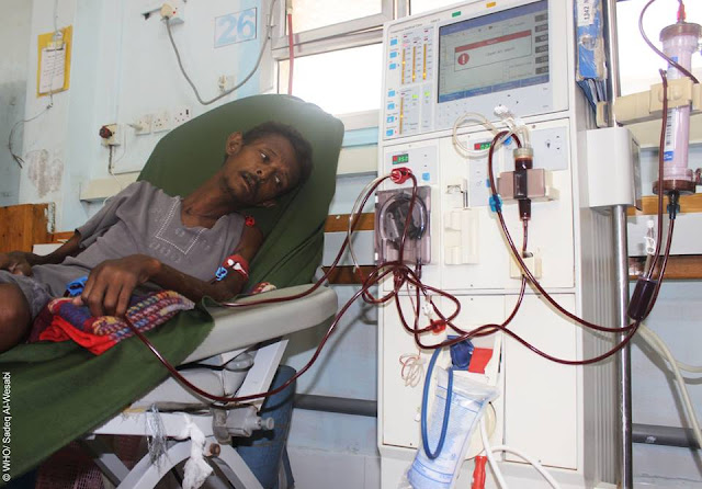 Many patients suffer the dire consequences of the war in Yemen