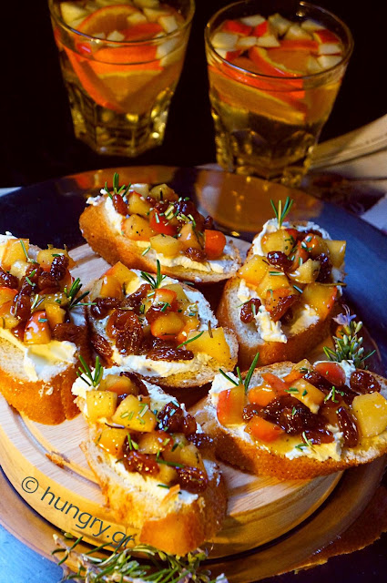 Apple & Cheese Crostini