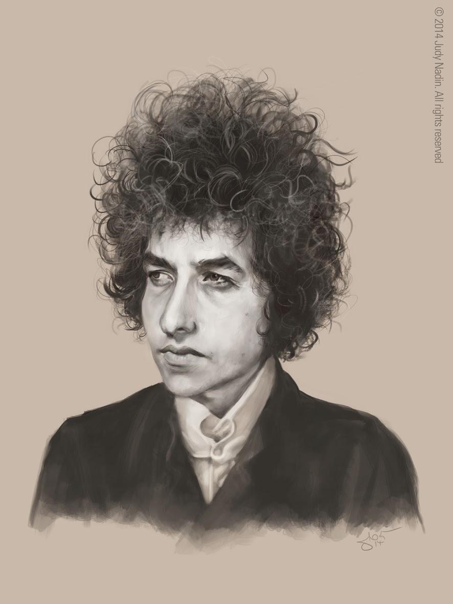 Phenomenal Judy Nadin Art And Caricature Blog Bob Dylan Portrait Hairstyles For Women Draintrainus