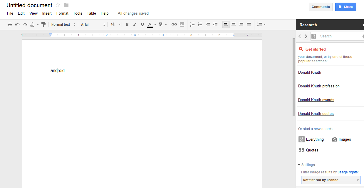 EverythingPrecise: How to use Google docs new feature ...