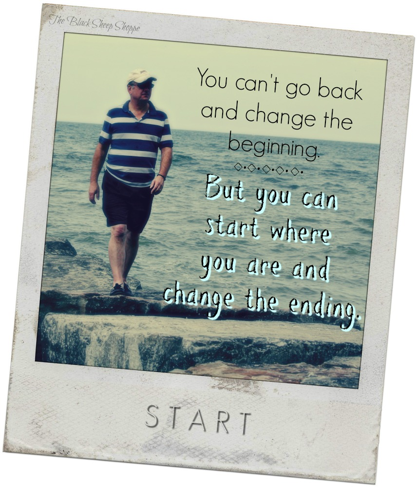 You can't go back and change the beginning. But you can start where you are and change the ending.