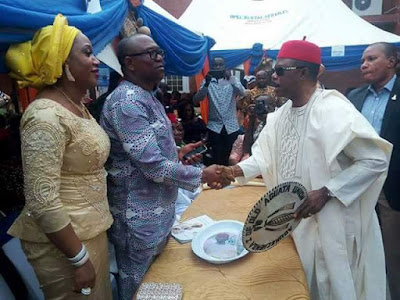 Caption this picture of Peter Obi and Governor Obiano