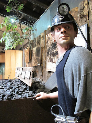 Full-scale model of a coal miner at Tawhiti Museum