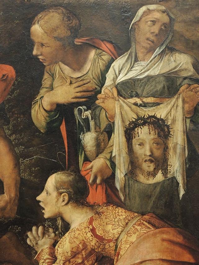 detail uit 'andata al calvario' van Caravaggi