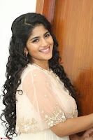 Megha Akash in beautiful Cream Transparent Anarkali Dress at Pre release function of Movie LIE ~ Celebrities Galleries 051.JPG