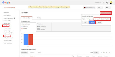 Belajar Tips Cepat Submit Sitemap di Google Webmaster