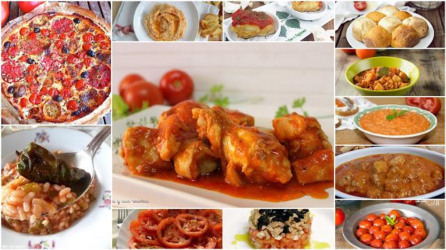 Recetas que llevan tomate. Julia y sus recetas