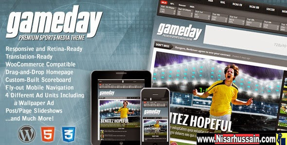 Gameday -  Premium WordPress Sports Media Theme