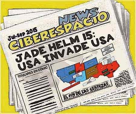 front page cómic titular sobre Jade Helm 15 ejercicios militares USA