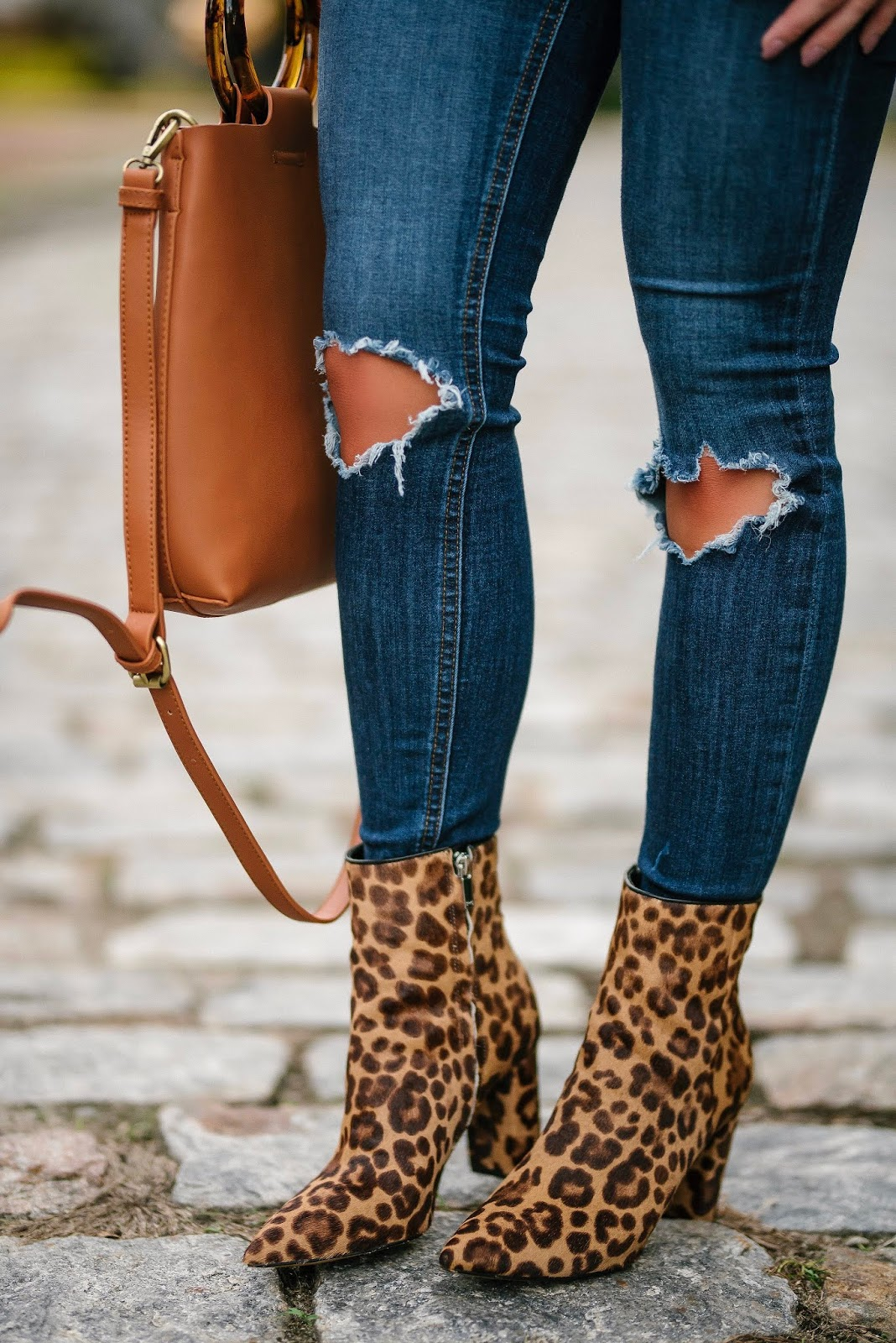 Marc Fisher Leopard Booties  - Something Delightful Blog