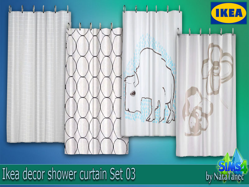 The Sims 4 Decor Ikea Shower Curtain Set 03