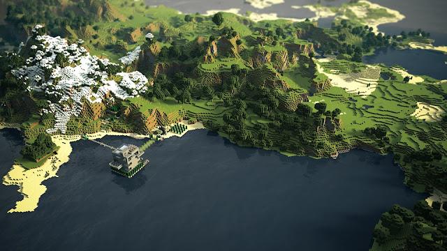 Hermoso Paisajes en Minecraft