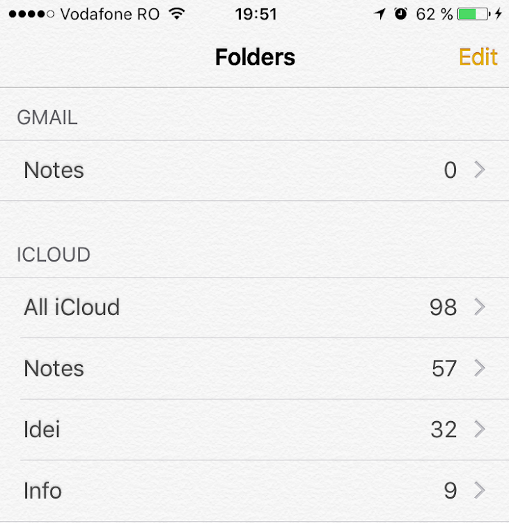 iOS 9 Notes folders after update