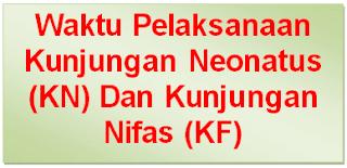 Waktu / Jadwal Pelaksanaan Kunjungan Neonatus (KN) Dan Kunjungan Nifas (KF)