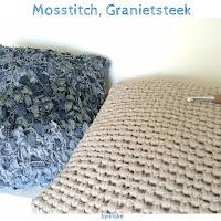 haaksteek, haken, moss stitch, weefsteeek, granietsteek, tutorial