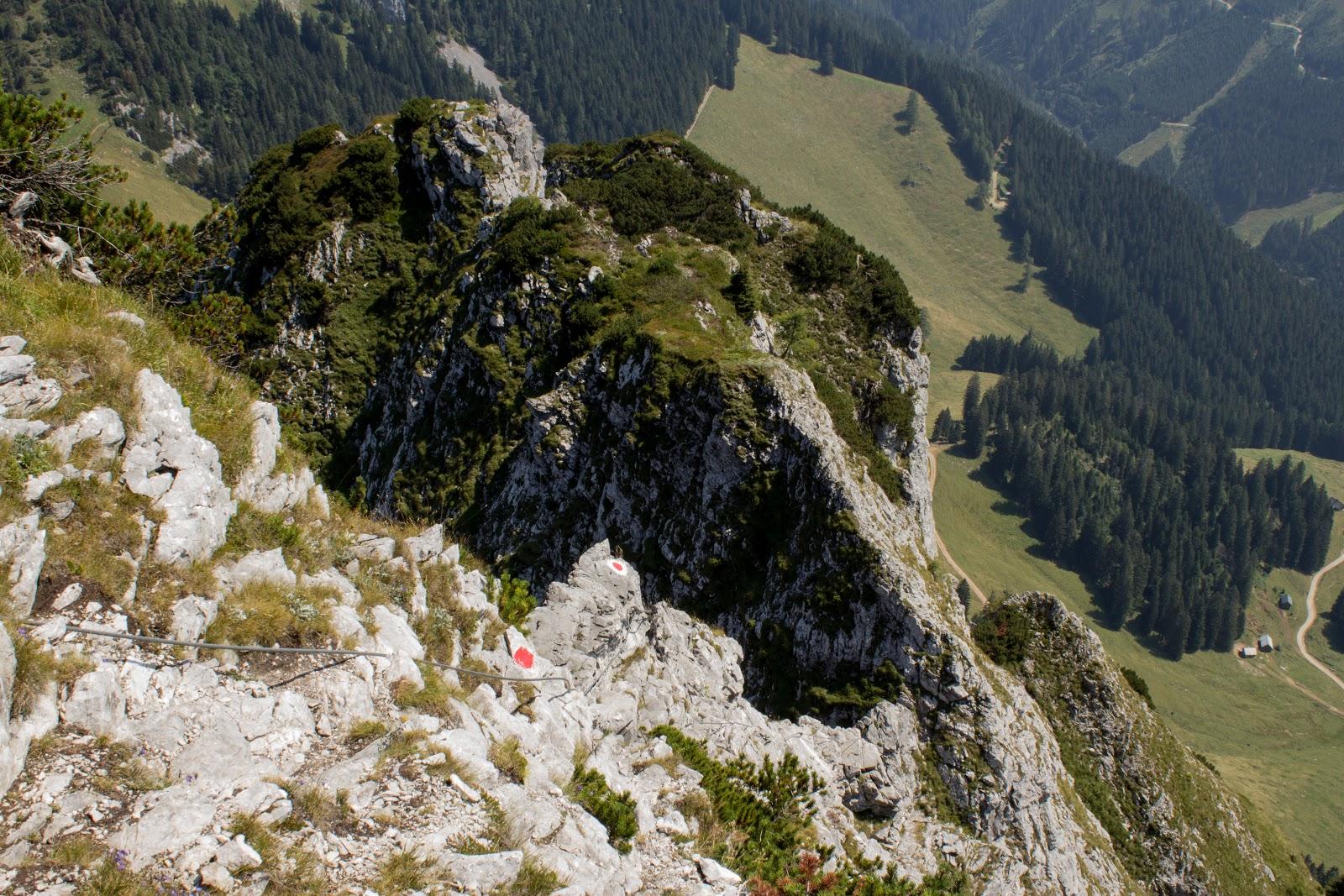 Von der Ardningeralmhütte über den Wildfrauensteig auf Frauenmauer, Bosruck und Kitzstein. - am Klettersteig zur Frauenmauer