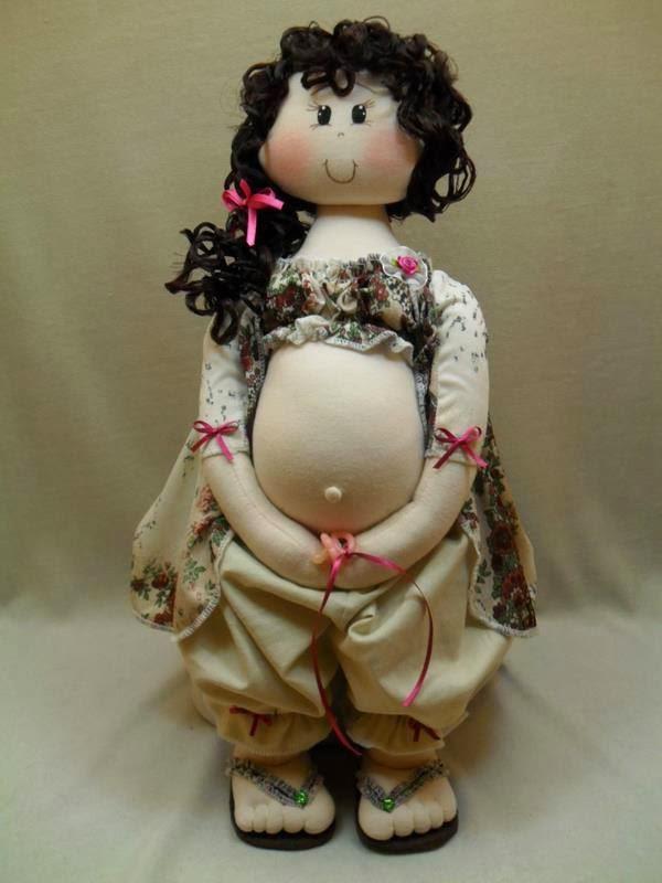boneca+gr%C3%A1vida - Molde Boneca de Pano Grávida