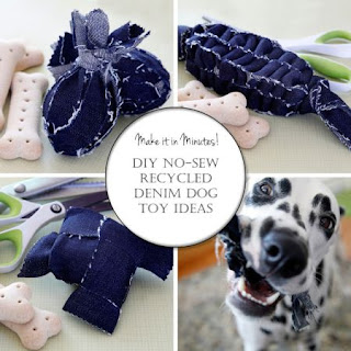 No Sew Denim Dog Toy