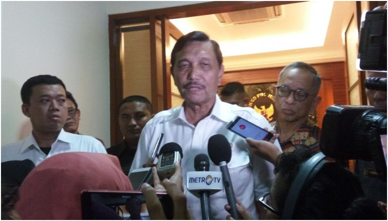 Menkopolhukam Luhut Binsar Pandjaitan berbicara soal eksekusi hukuman mati
