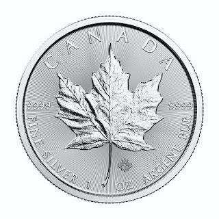 Pièce d'argent canadienne en feuille