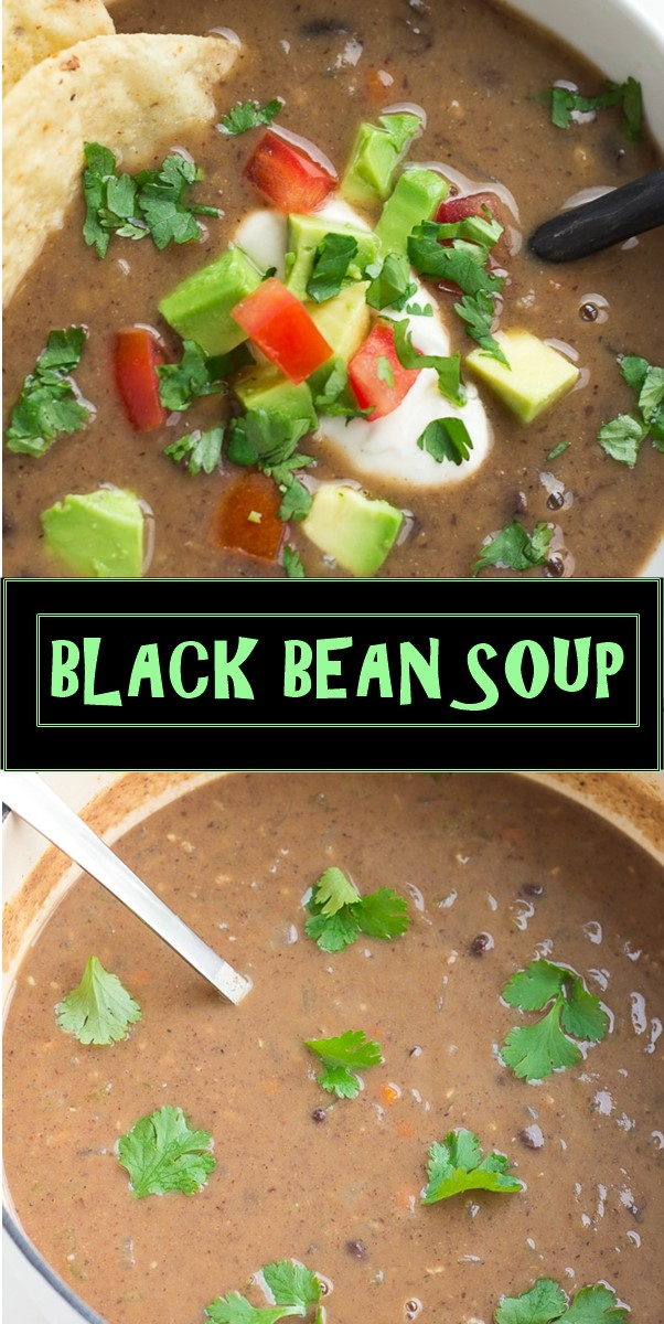 BLACK BEAN SOUP #Souprecipes