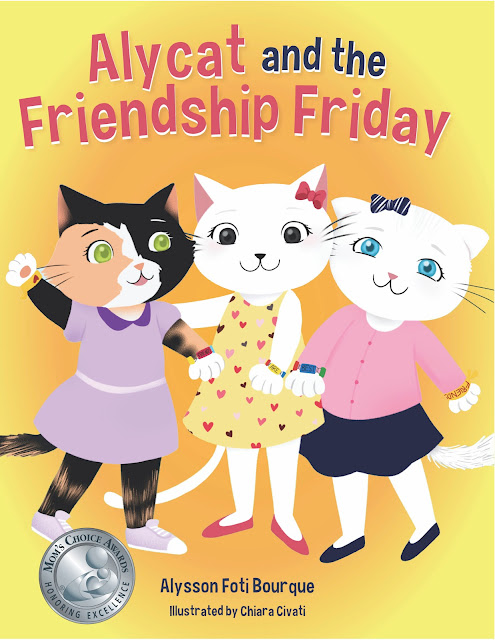Book Cover for Children's Book Alycat and the Friendship Friday by Alysson Foti Bourque.