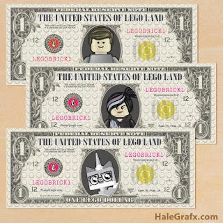 Dinero para Jugar  de Película de Lego para imprimir gratis.