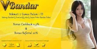 Cashback 2x Judi BandarQ Online VBandar.info