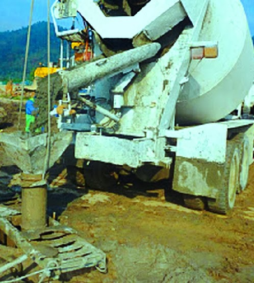 Pile concreting with plant controlled ready mix concrete