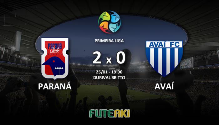 Veja o resumo da partida com os gols e os melhores momentos de Paraná 2x0 Avaí pela Primeira Fase da Primeira Liga 2017.