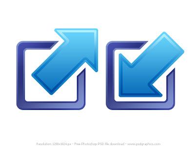 minimize and maximize icons