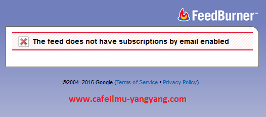 Cara Mudah Mengatasi The Feed Does Not Have Subscriptions By Email Enabled