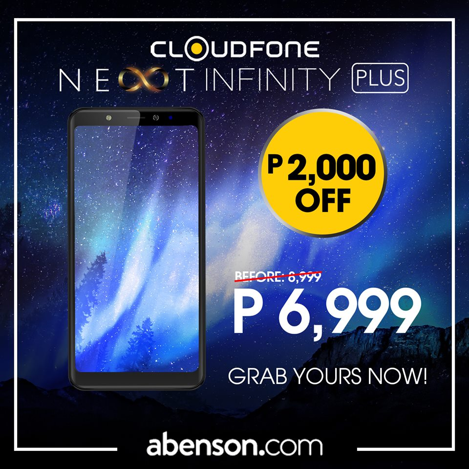 Cloudfone Next Infinity Plus Drops Price to Php6,999
