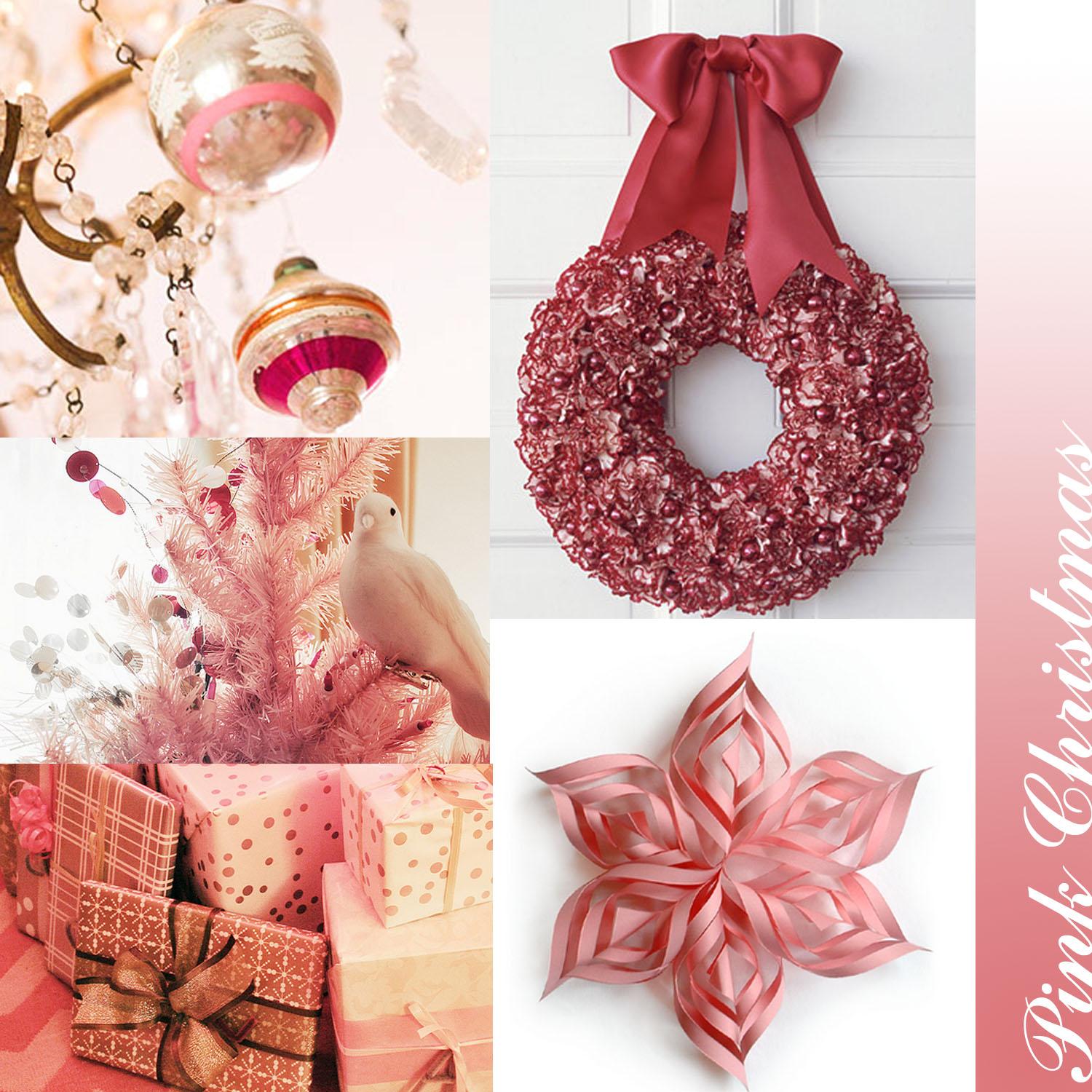 DREAMING OF A PINK CHRISTMAS FRENCH COUNTRY COTTAGE