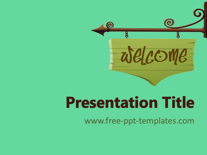 welcome ppt template, Powerpoint templates