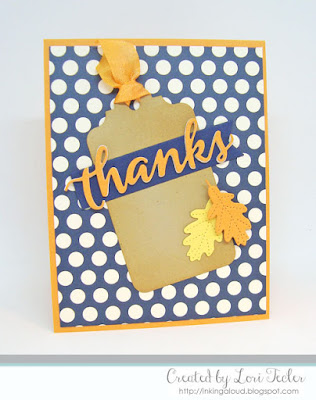 Leafy Thanks card-designed by Lori Tecler/Inking Aloud-dies from SugarPea Designs