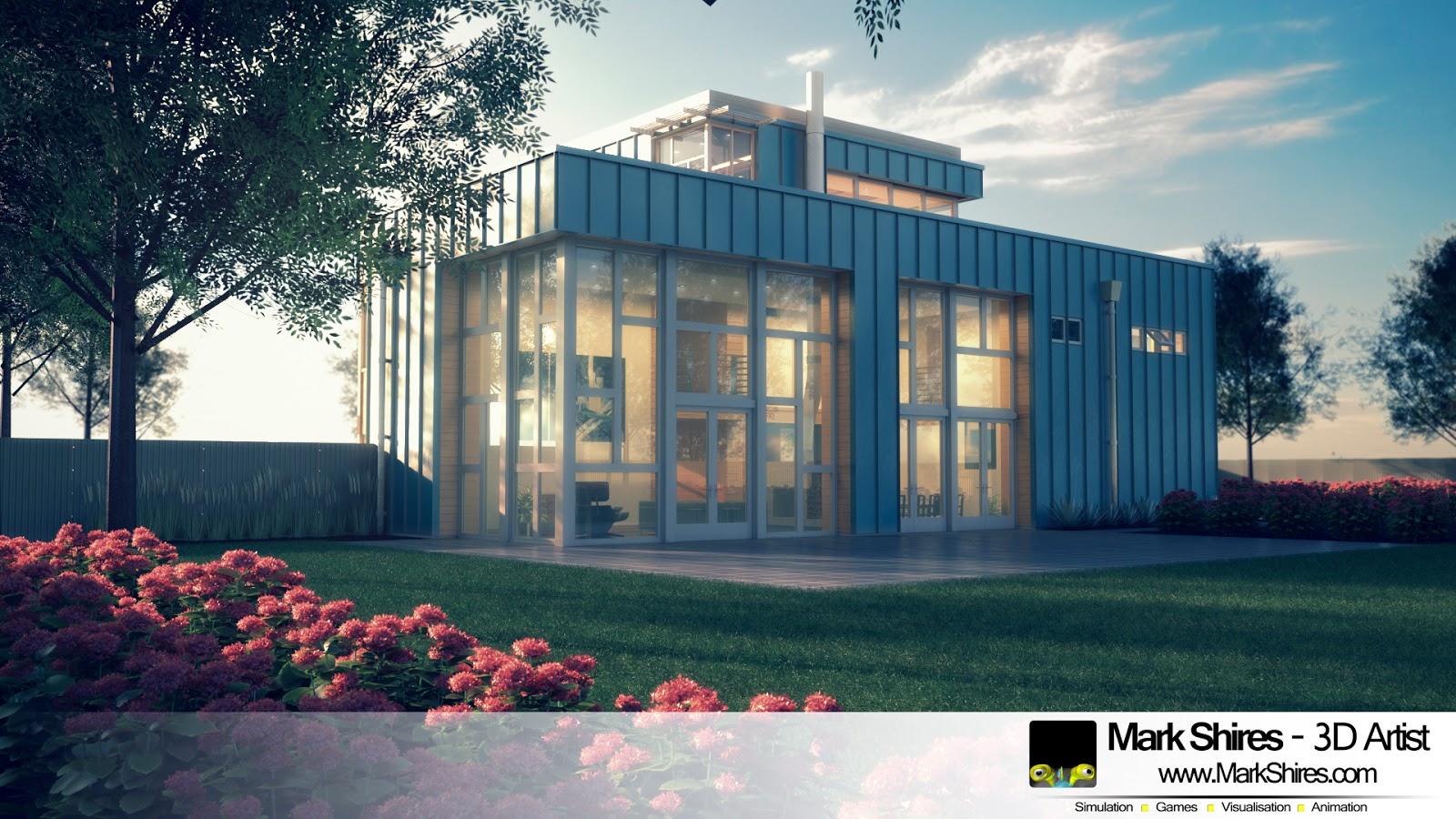 Mark Shires - 3D Artist: Modern Industrial Inspired Property