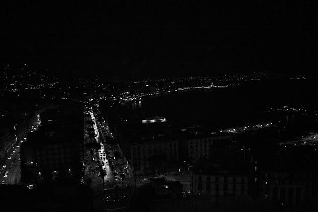 Napoli, panorama Napoli, strade, città, luci, metropoli