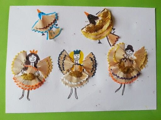 pencil shaving art for kids