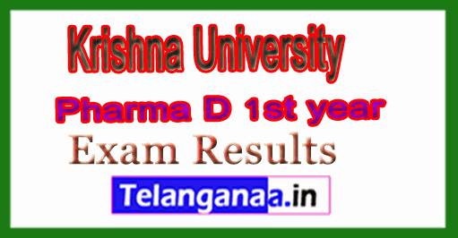 Krishna University Pharma D 1st year Exam Results