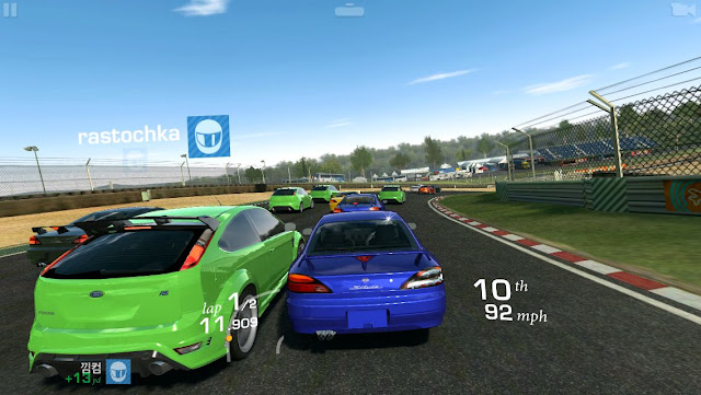 Racing game on Apple TV