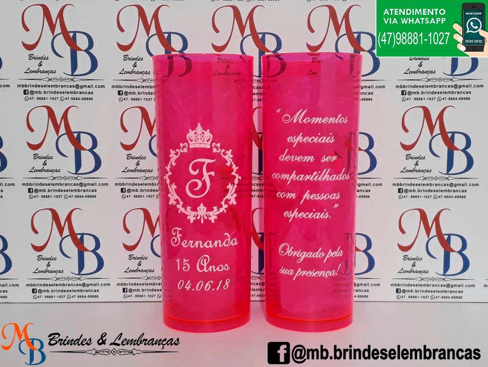 Copos Personalizados Aniversario 15 Anos Mb Brindes E Lembranças