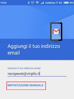 Configurare Virgilio per Gmail