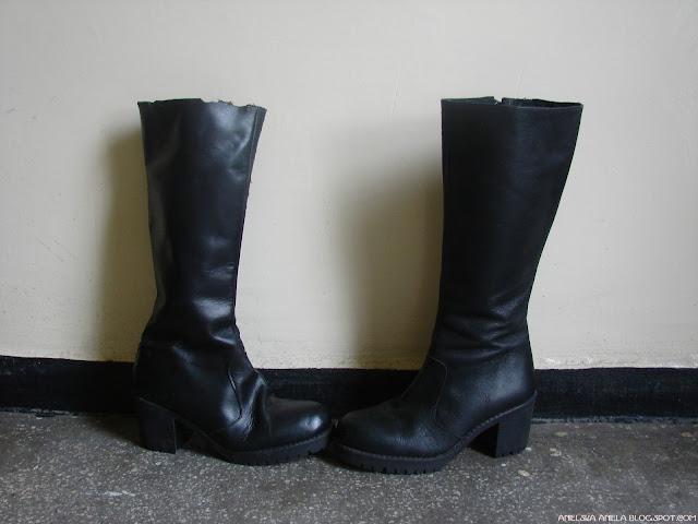 DIY TUTORIAL. / Ankle Boots / leather boots refashion / jak przerobić buty i skrócić? / skórzane buty / diy